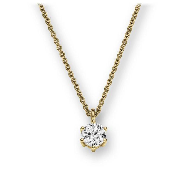 Collier in geelgoud 14 kt. met 0,3 ct. Briljant tw,vs van Eternal Touch - E-2U6LH-GG5-1IV54LZ