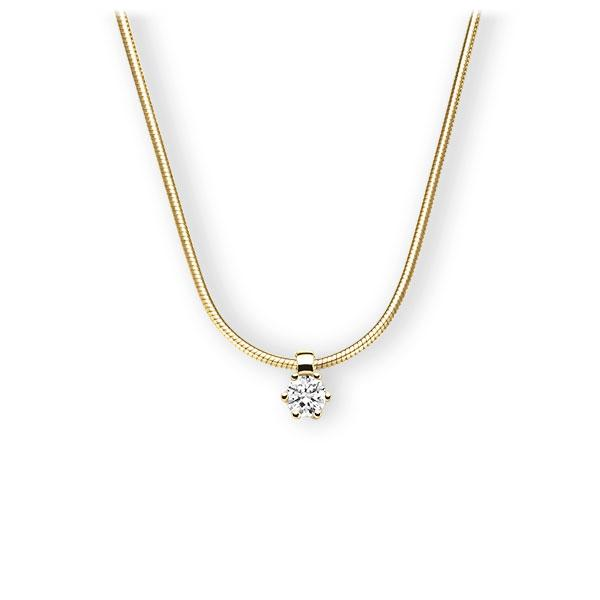 Collier in geelgoud 14 kt. met 0,3 ct. Briljant tw,vs van Eternal Touch - E-3VBII-GG5-1IV54LZ