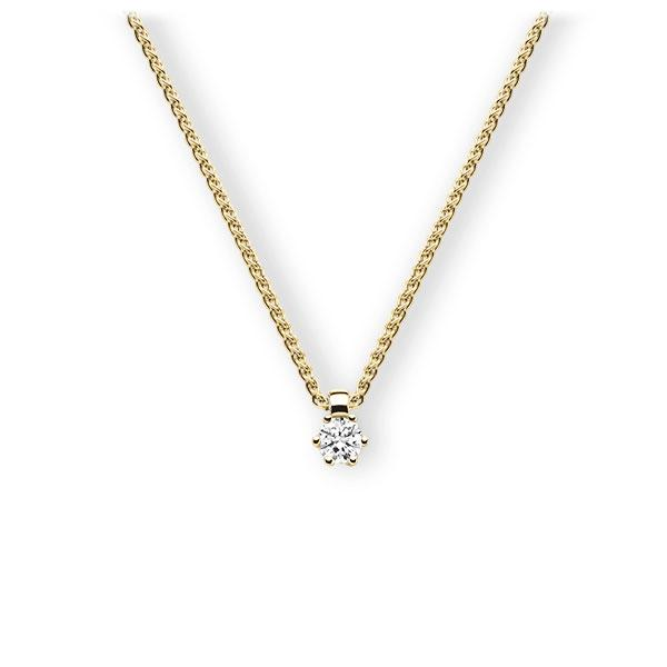 Collier in geelgoud 14 kt. met 0,3 ct. Briljant tw,vs van Eternal Touch - E-3VBJU-GG5-1IV54LZ