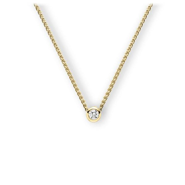 Collier in geelgoud 14 kt. met 0,3 ct. Briljant tw,vs van Eternal Touch - E-3WJJT-GG5-1IV5DGZ