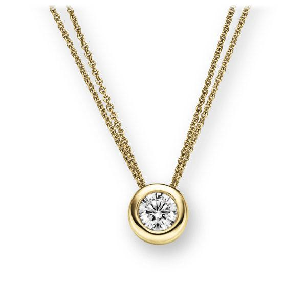Collier in geelgoud 14 kt. met 0,4 ct. Briljant tw,vs van Eternal Touch - E-2TX1E-GG5-1IV50BZ