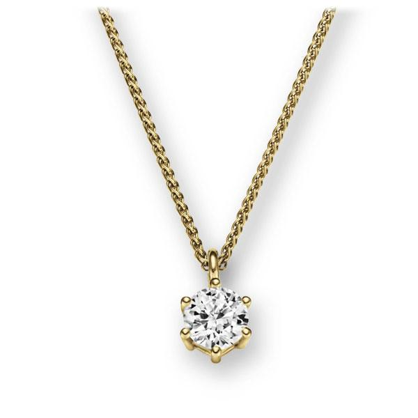 Collier in geelgoud 14 kt. met 0,4 ct. Briljant tw,vs van Eternal Touch - E-2U6R3-GG5-1IV561Z