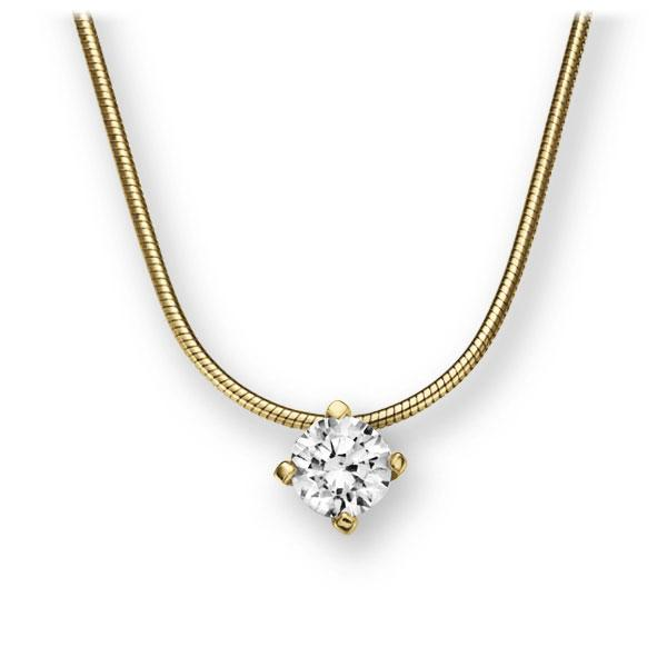 Collier in geelgoud 14 kt. met 0,4 ct. Briljant tw,vs van Eternal Touch - E-2U6UG-GG5-1IV52LZ