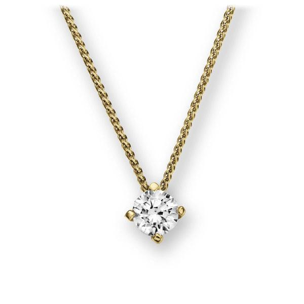 Collier in geelgoud 14 kt. met 0,4 ct. Briljant tw,vs van Eternal Touch - E-2U7KY-GG5-1IV52LZ