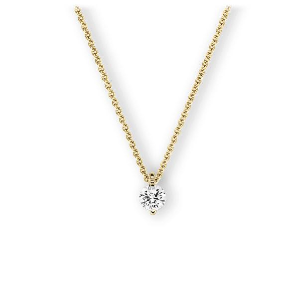 Collier in geelgoud 14 kt. met 0,4 ct. Briljant tw,vs van Eternal Touch - E-3VBKY-GG5-1IV4F1Z