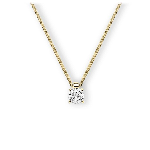 Collier in geelgoud 14 kt. met 0,4 ct. Briljant tw,vs van Eternal Touch - E-3WIBP-GG5-1IV52LZ