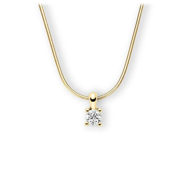 Collier in geelgoud 14 kt. met 0,4 ct. Briljant tw,vs van Eternal Touch - E-3WIHD-GG5-1IV52LZ