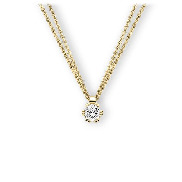 Collier in geelgoud 14 kt. met 0,4 ct. Briljant tw,vs van Eternal Touch - E-3WINE-GG5-1IV561Z