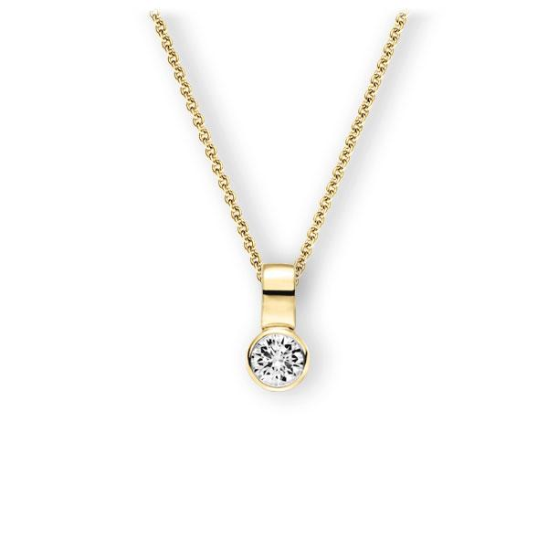 Collier in geelgoud 14 kt. met 0,4 ct. Briljant tw,vs van Eternal Touch - E-3WIUD-GG5-1IV50BZ