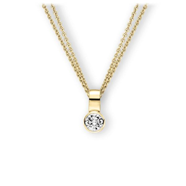 Collier in geelgoud 14 kt. met 0,4 ct. Briljant tw,vs van Eternal Touch - E-3WIW4-GG5-1IV50BZ