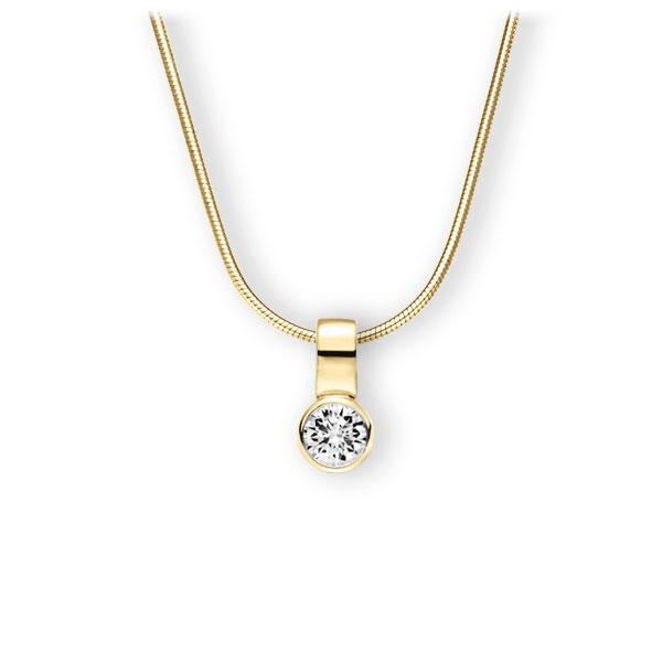 Collier in geelgoud 14 kt. met 0,4 ct. Briljant tw,vs van Eternal Touch - E-3WIXU-GG5-1IV50BZ