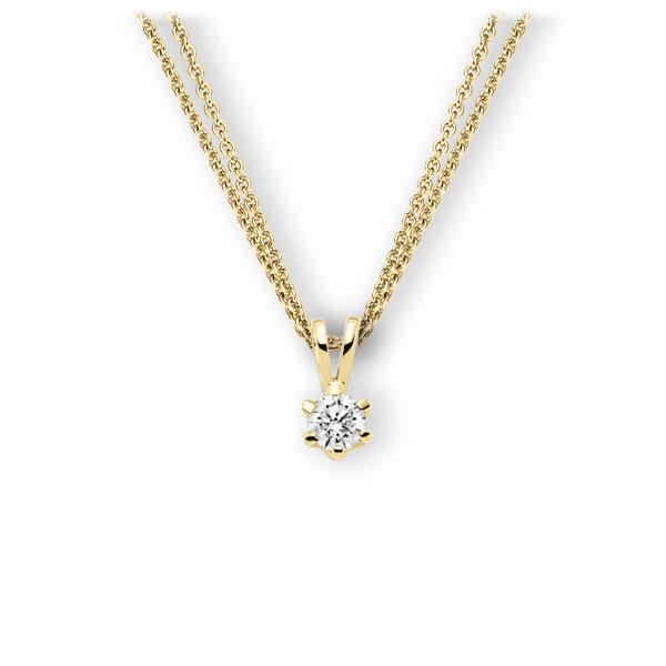 Collier in geelgoud 14 kt. met 0,4 ct. Briljant tw,vs van Eternal Touch - E-3WJVA-GG5-1IV561Z