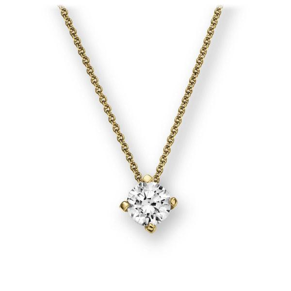 Collier in geelgoud 14 kt. met 0,5 ct. Briljant tw,vs van Eternal Touch - E-2U785-GG5-1IV4KGZ