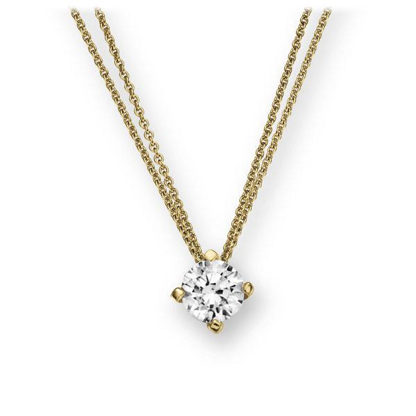 Collier in geelgoud 14 kt. met 0,5 ct. Briljant tw,vs van Eternal Touch - E-2U7E0-GG5-1IV4KGZ