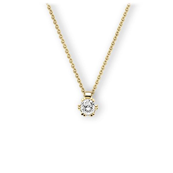 Collier in geelgoud 14 kt. met 0,5 ct. Briljant tw,vs van Eternal Touch - E-3WIK3-GG5-1IV54BZ