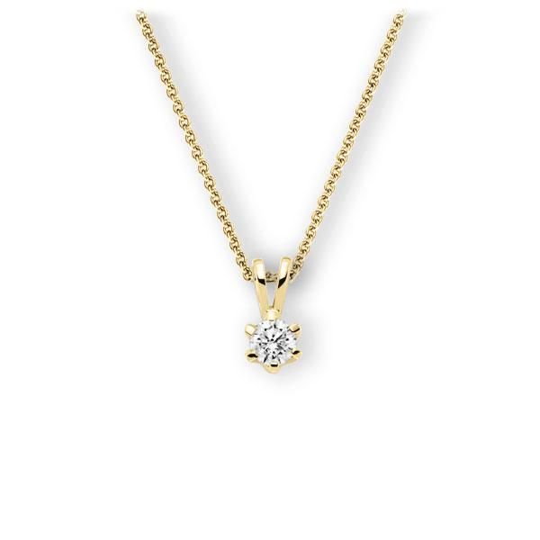 Collier in geelgoud 14 kt. met 0,5 ct. Briljant tw,vs van Eternal Touch - E-3WJSG-GG5-1IV54BZ