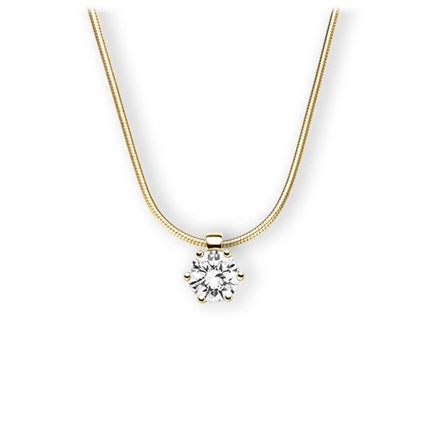 Collier in geelgoud 14 kt. met 0,7 ct. Briljant tw,vs van Eternal Touch - E-3VBIM-GG5-1IV4HLZ