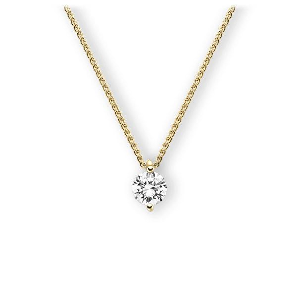 Collier in geelgoud 14 kt. met 0,7 ct. Briljant tw,vs van Eternal Touch - E-3WI4B-GG5-1IV4Y1Z