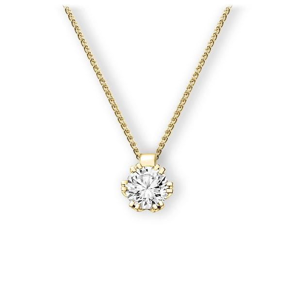 Collier in geelgoud 14 kt. met 0,7 ct. Briljant tw,vs van Eternal Touch - E-3WIS8-GG5-1IV4HLZ