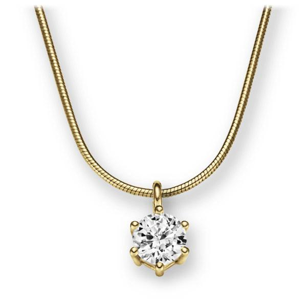 Collier in geelgoud 14 kt. met 1 ct. Briljant tw,vs van Eternal Touch - E-2U6JP-GG5-1IV56WZ