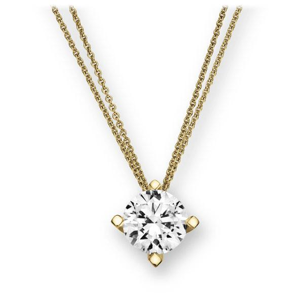 Collier in geelgoud 14 kt. met 1 ct. Briljant tw,vs van Eternal Touch - E-2U7E1-GG5-1IV6K6Z