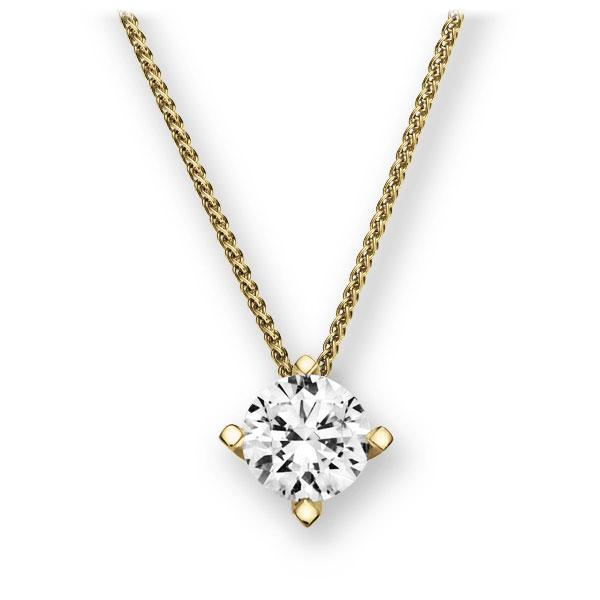 Collier in geelgoud 14 kt. met 1 ct. Briljant tw,vs van Eternal Touch - E-2U7L0-GG5-1IV6K6Z