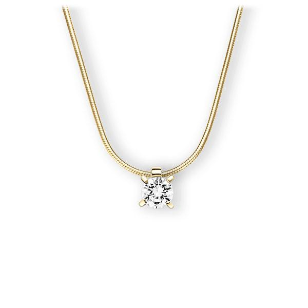 Collier in geelgoud 14 kt. met 1 ct. Briljant tw,vs van Eternal Touch - E-3WI8N-GG5-1IV6K6Z