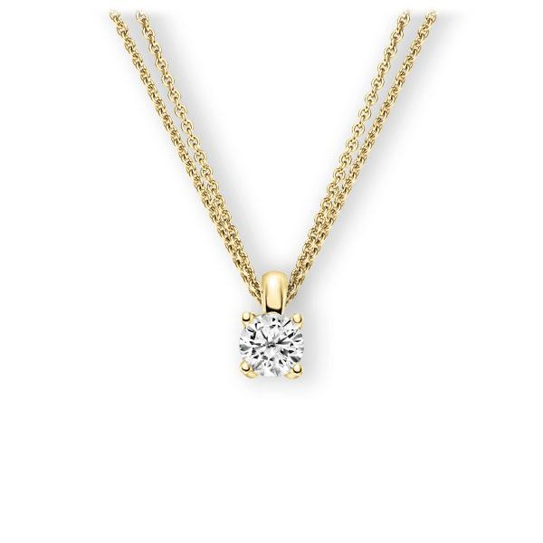Collier in geelgoud 14 kt. met 1 ct. Briljant tw,vs van Eternal Touch - E-3WIE8-GG5-1IV6K6Z