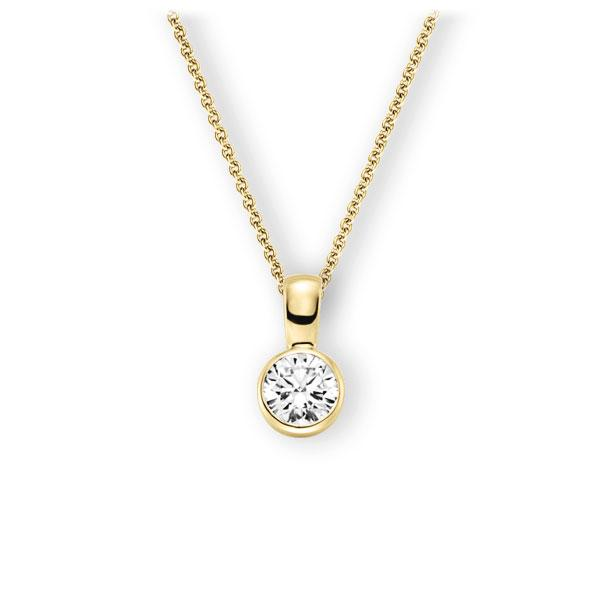 Collier in geelgoud 14 kt. met 1 ct. Briljant tw,vs van Eternal Touch - E-3WK0P-GG5-1IV64GZ