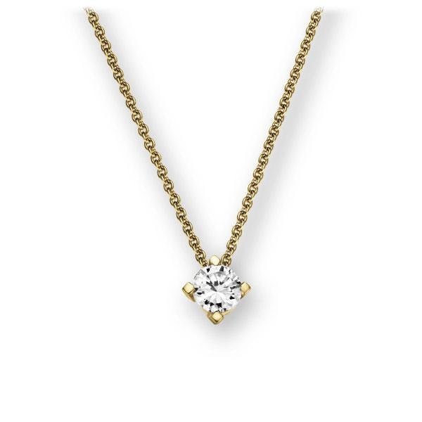 Collier in geelgoud 14 kt. met in totaal 0,15 ct. Briljant tw,vs van Eternal Touch - E-2U780-GG5-1Z84YZ