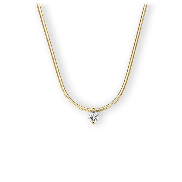Collier in geelgoud 14 kt. met in totaal 0,15 ct. Briljant tw,vs van Eternal Touch - E-3VBVD-GG5-1Z851Z