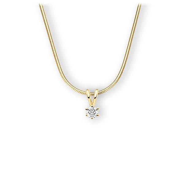 Collier in geelgoud 14 kt. met in totaal 0,15 ct. Briljant tw,vs van Eternal Touch - E-3WJX7-GG5-1Z84ZZ