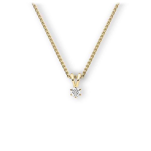 Collier in geelgoud 14 kt. met in totaal 0,15 ct. Briljant tw,vs van Eternal Touch - E-3WJZ5-GG5-1Z84ZZ