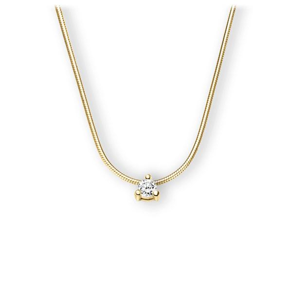 Collier in geelgoud 14 kt. met in totaal 0,15 ct. Briljant tw,vs van Eternal Touch - E-3WK4N-GG5-1Z84YZ