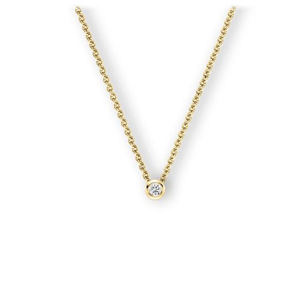 Collier in geelgoud 14 kt. met in totaal 0,1 ct. Briljant tw,vs van Eternal Touch - E-3WJGH-GG5-1Z8K4Z