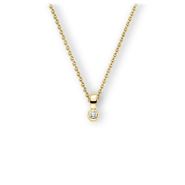 Collier in geelgoud 14 kt. met in totaal 0,1 ct. Briljant tw,vs van Eternal Touch - E-3WK04-GG5-1Z8K4Z