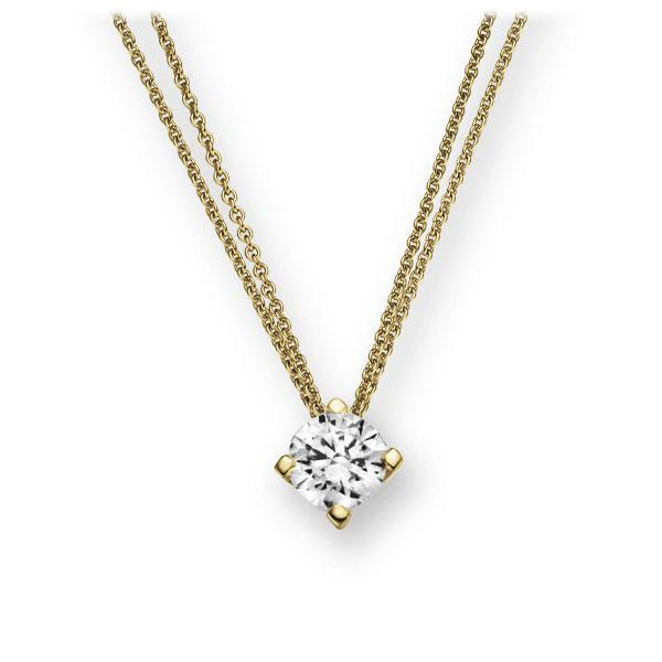 Collier in geelgoud 14 kt. met in totaal 0,25 ct. Briljant tw,vs van Eternal Touch - E-2U7DX-GG5-1TT9JZ