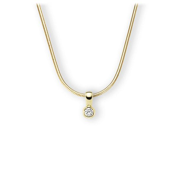 Collier in geelgoud 14 kt. met in totaal 0,25 ct. Briljant tw,vs van Eternal Touch - E-3WK29-GG5-2KTPHZ
