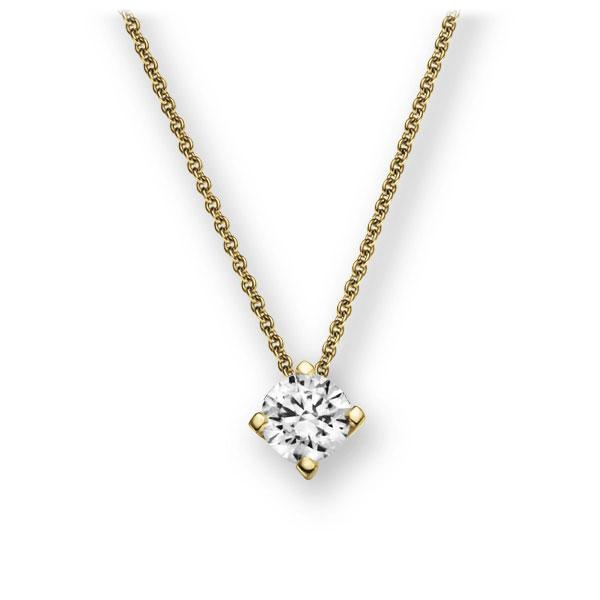 Collier in Gelbgold 585 mit 0,3 ct. Brillant tw, vs von 123gold - E-2U783-GG5-1IV6N1Z