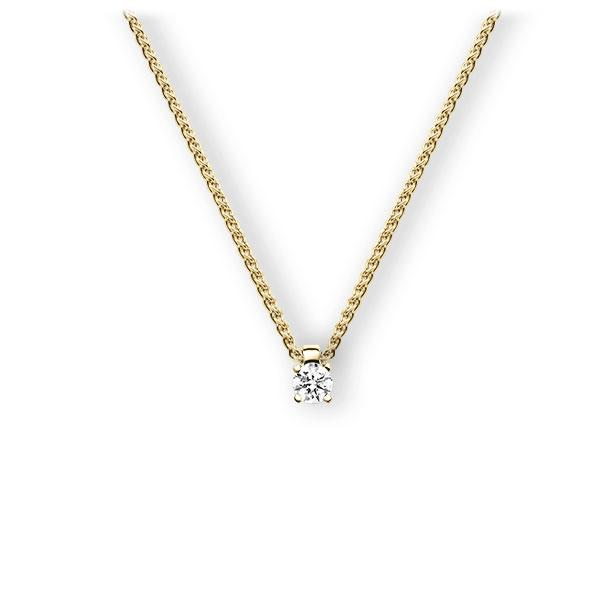 Collier in Gelbgold 585 mit 0,3 ct. Brillant tw, vs von 123gold - E-3WIAI-GG5-1IV6N1Z