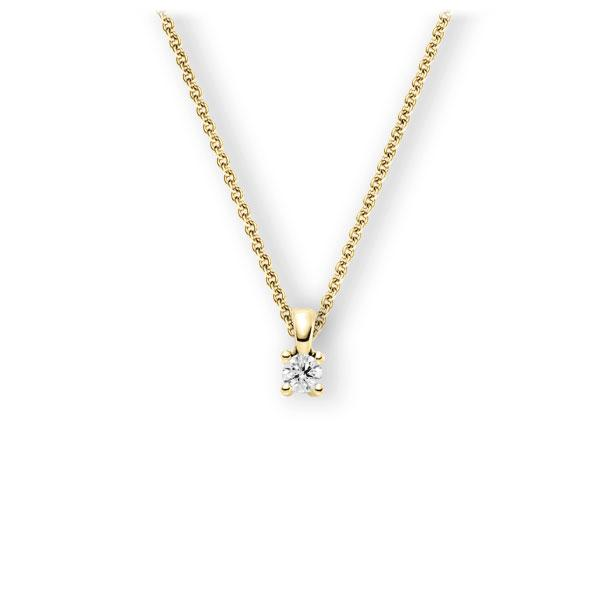 Collier in Gelbgold 585 mit 0,3 ct. Brillant tw, vs von 123gold - E-3WICB-GG5-1IV6N1Z