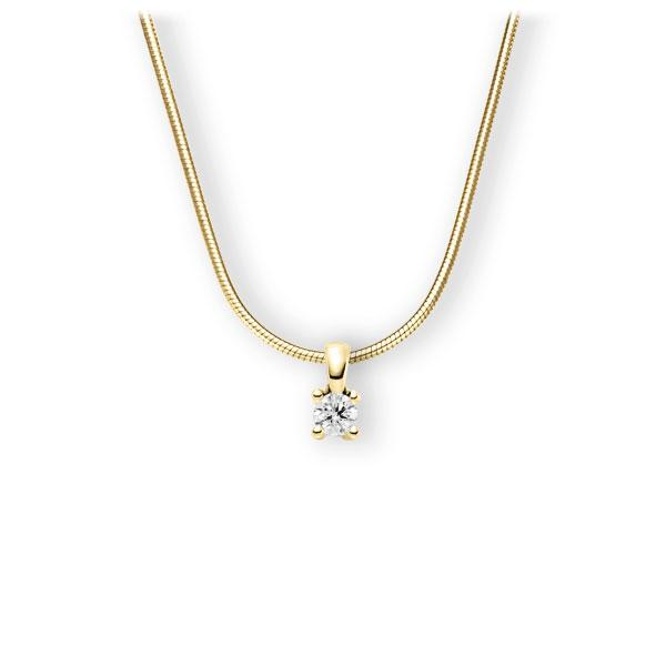 Collier in Gelbgold 585 mit 0,3 ct. Brillant tw, vs von 123gold - E-3WIG7-GG5-1IV6N1Z
