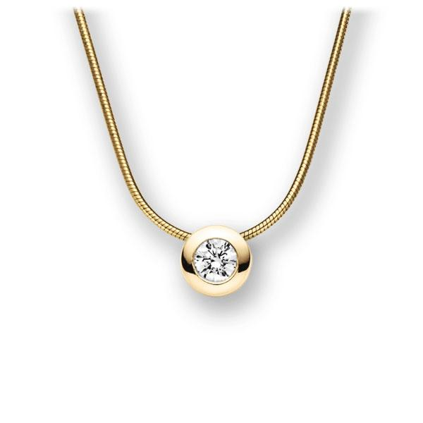 Collier in Gelbgold 585 mit 0,3 ct. Brillant tw, vs von acredo - A-10L4PN-GG5-1IV5DGZ