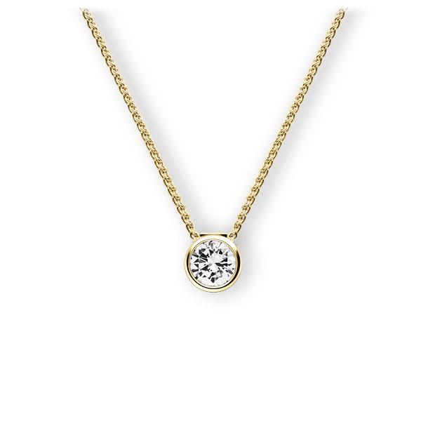Collier in Gelbgold 585 mit 0,4 ct. Brillant tw, vs von 123gold - E-3VBBW-GG5-1IV50BZ