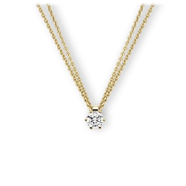 Collier in Gelbgold 585 mit 0,4 ct. Brillant tw, vs von 123gold - E-3VBFA-GG5-1IV561Z