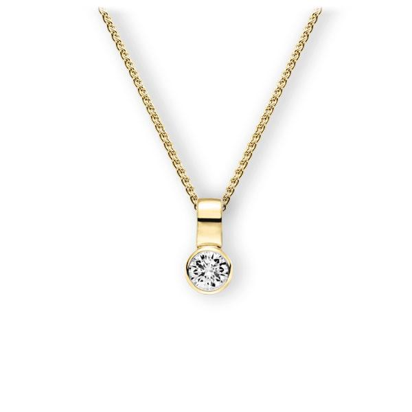 Collier in Gelbgold 585 mit 0,4 ct. Brillant tw, vs von 123gold - E-3WIZH-GG5-1IV50BZ