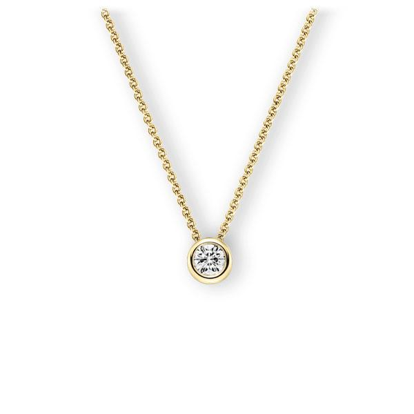 Collier in Gelbgold 585 mit 0,4 ct. Brillant tw, vs von 123gold - E-3WJH4-GG5-1IV50BZ