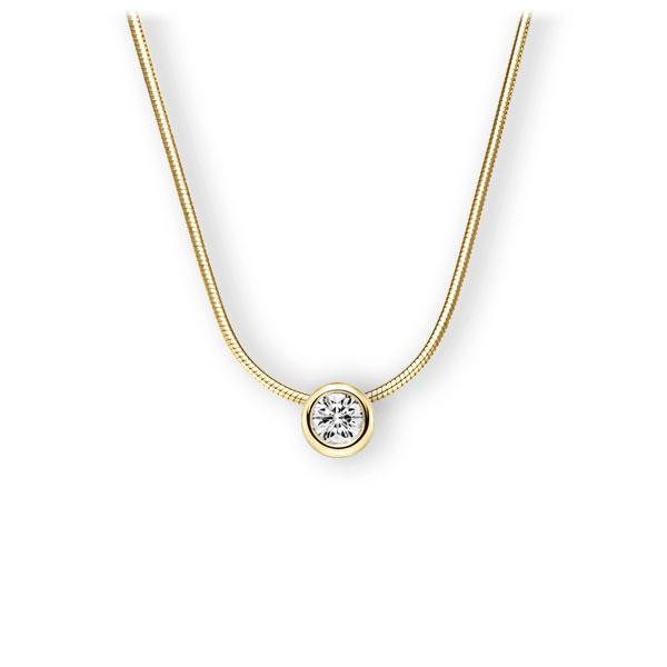 Collier in Gelbgold 585 mit 0,4 ct. Brillant tw, vs von 123gold - E-3WJJG-GG5-1IV50BZ