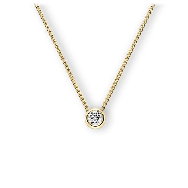 Collier in Gelbgold 585 mit 0,4 ct. Brillant tw, vs von 123gold - E-3WJKD-GG5-1IV50BZ