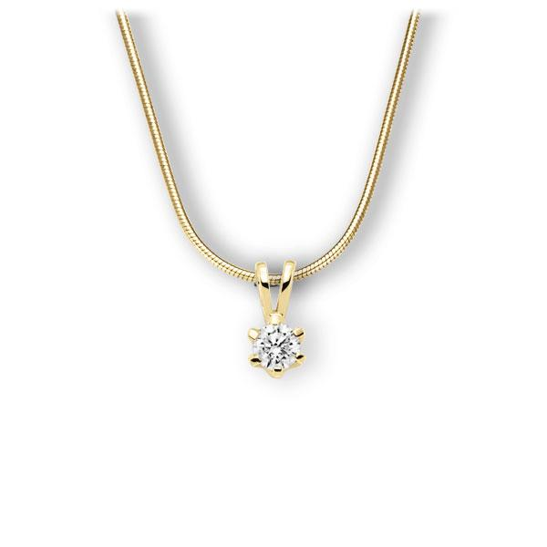 Collier in Gelbgold 585 mit 0,4 ct. Brillant tw, vs von 123gold - E-3WJX9-GG5-1IV561Z